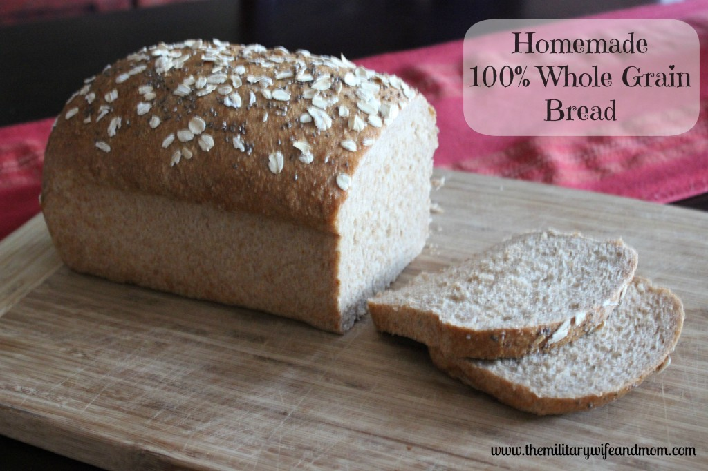 homemade whole grain bread