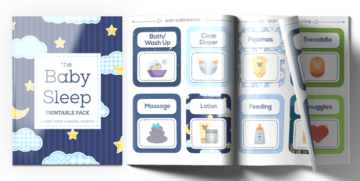 Adorable baby sleep routine cards. Help support your baby's best sleep. Infant routine. Bedtime routine for baby.