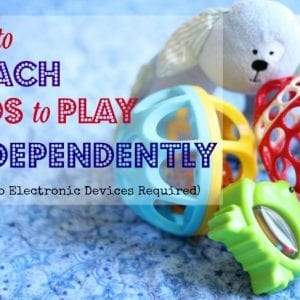 how to teach children to play independently