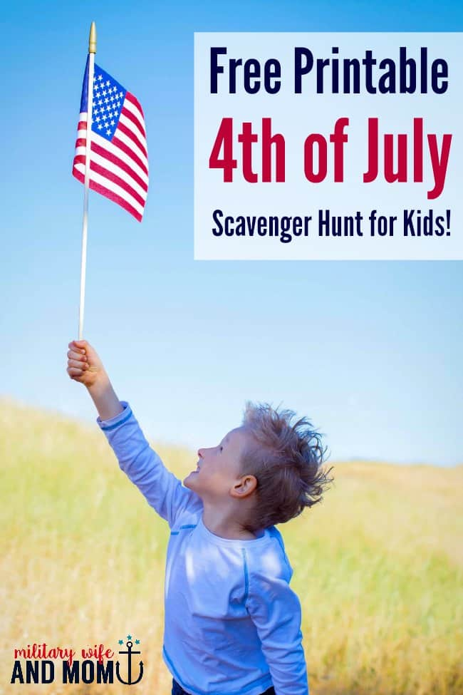 Love this free printable 4th of July scavenger hunt for kids!