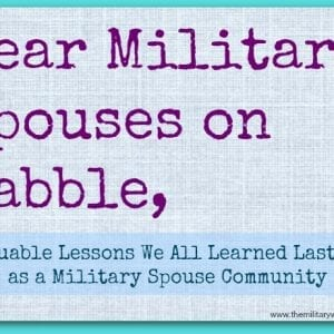 Dear Military Spouses on Babble