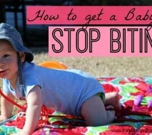 Getting a Baby to Stop Biting