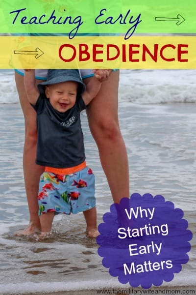 teaching early obedience