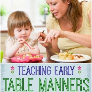 Getting Started with Early Obedience at the Dinner Table!