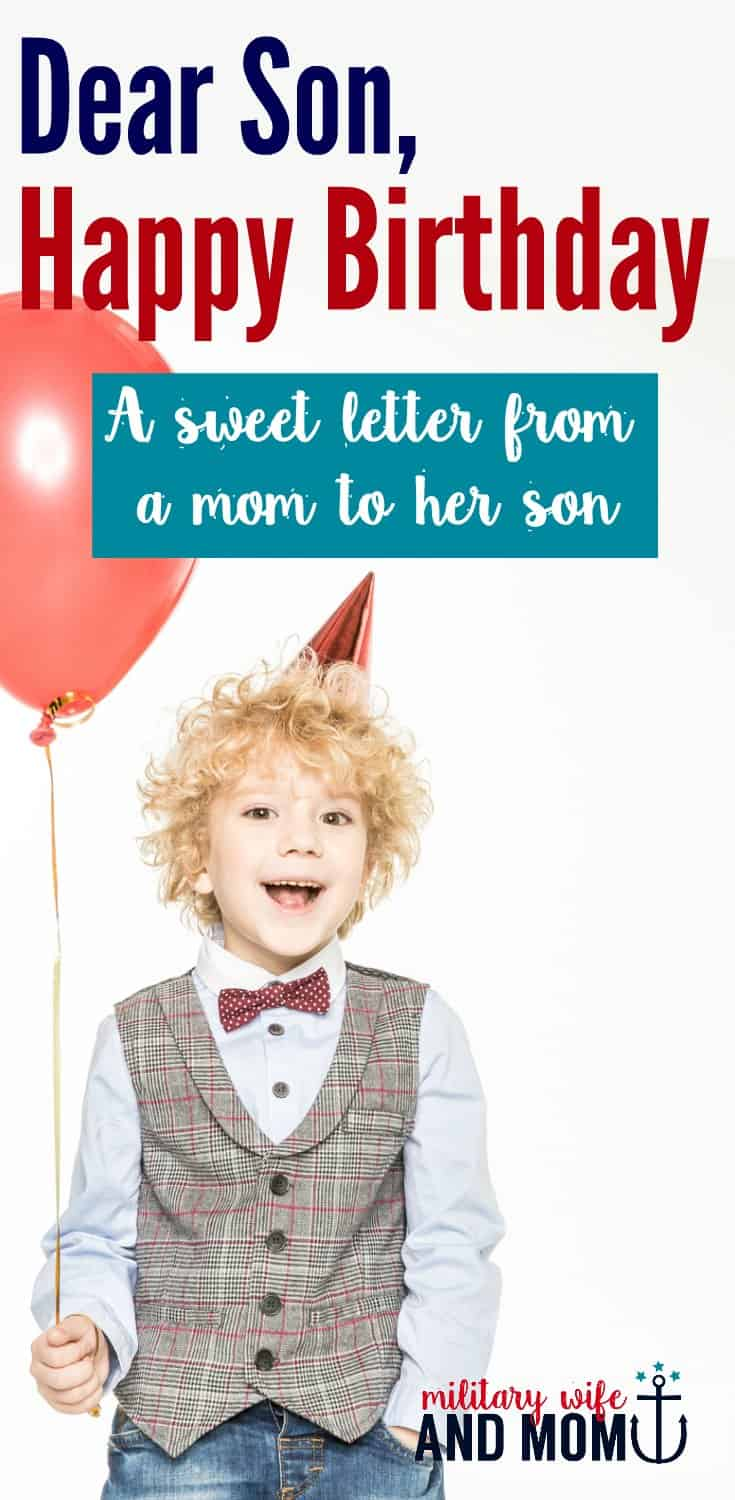 LOVE this sweet and adorable happy birthday letter from a mom to her son.