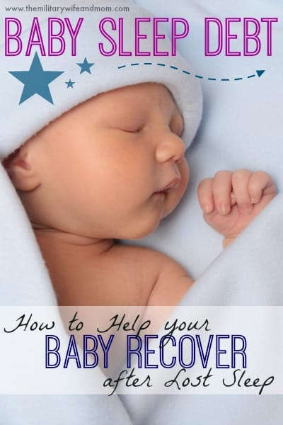 How to Help your Baby Recover after Lost Sleep
