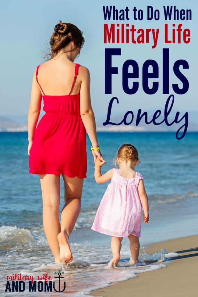 Do you ever feel like a lonely military wife? This post is SO HELPFUL!