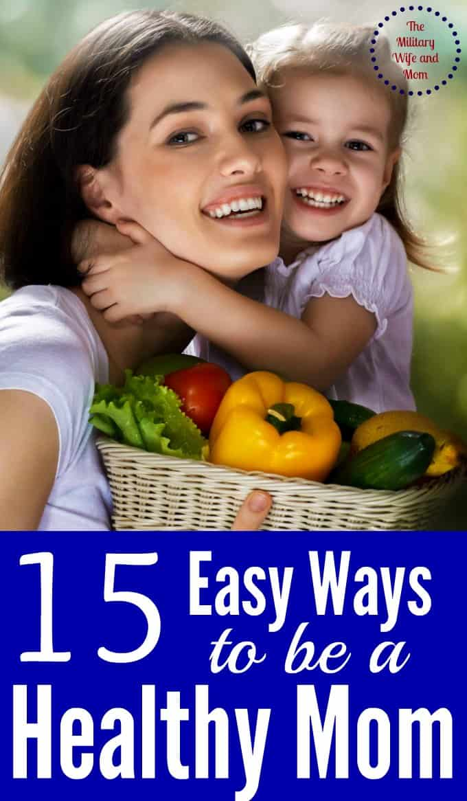 Because being a healthy mom doesn't have to be hard! Love these easy tips!