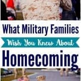 Military homecoming tips that are REAL and HONEST. Learn behind the scenes what it's really like for military families experiencing homecoming.