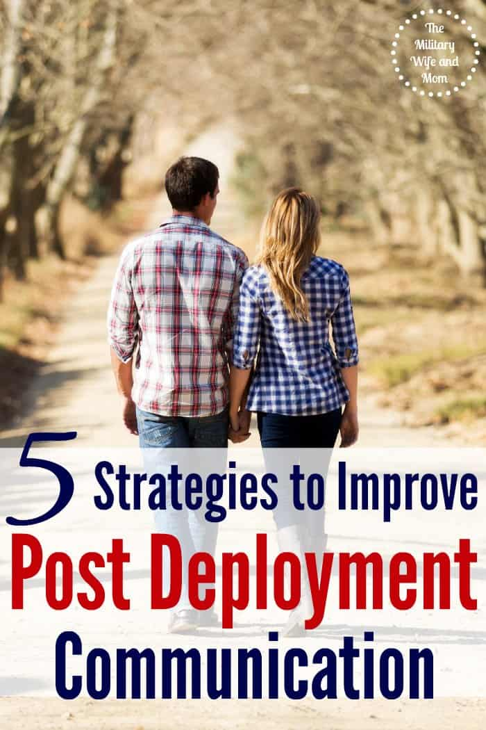 Ever wonder how to get your spouse talk post deployment? Love these 5 strategies to improve communication post deployment!