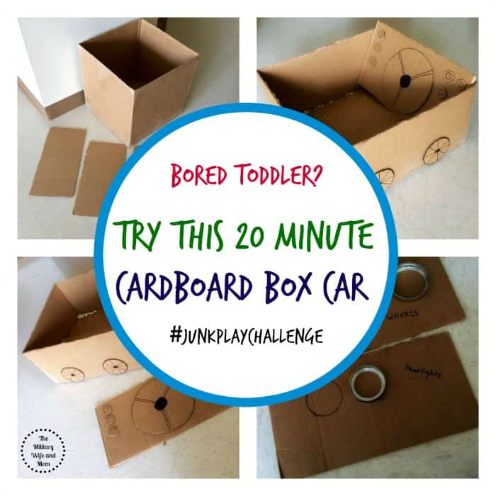 Bored Toddler Try This 20 Minute Cardboard Box Car