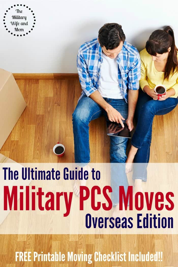 FREE printable military moving overseas checklist! This will keep your organized!!