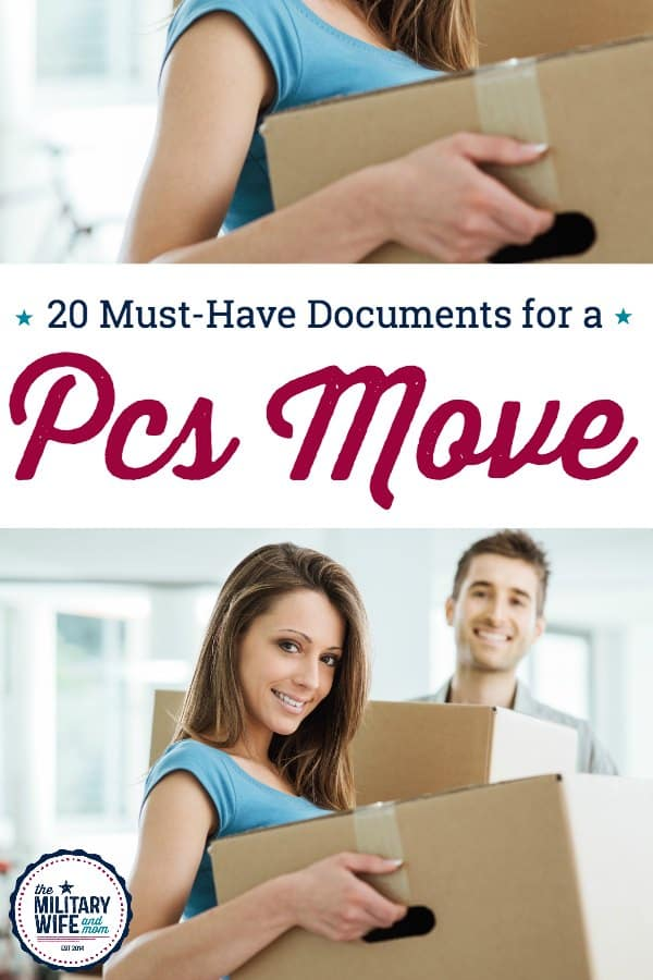 These are the most important documents for a military pcs move. Create a moving checklist for yourself and keep these documents on hand at all times with your military move. #pcsmove #militarymove #oconus #conus #ditymove #militaryfamily #militaryspouse