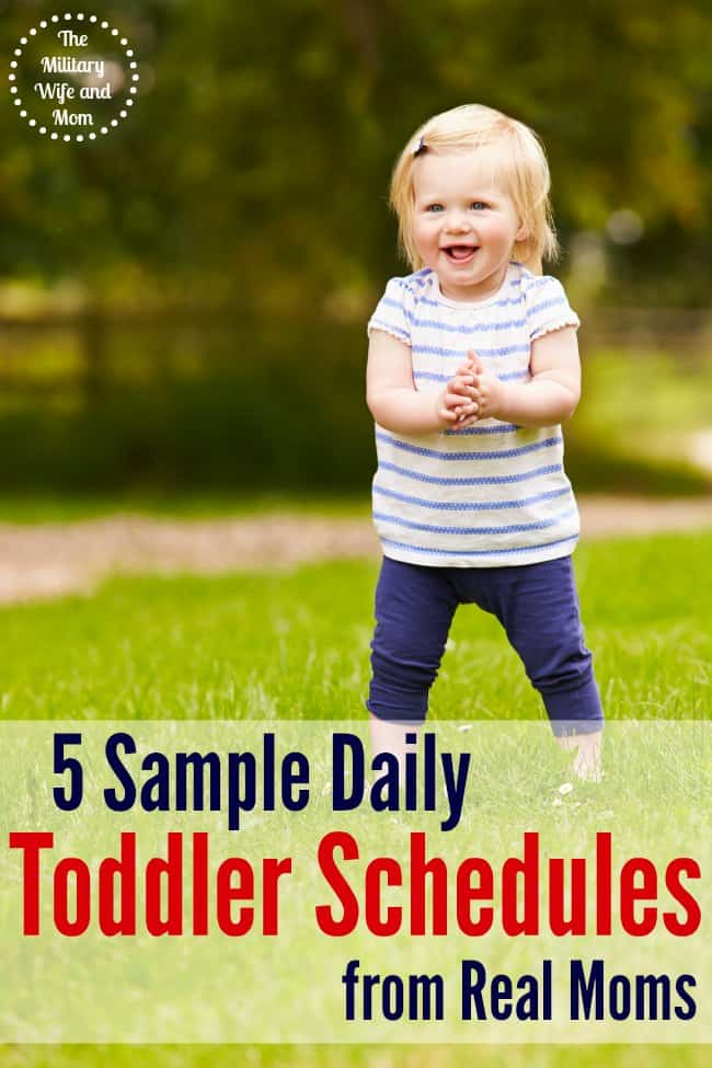 "5 stay-at-home moms were asked, ""what is your sample daily toddler schedule?"" Here are there answers!"
