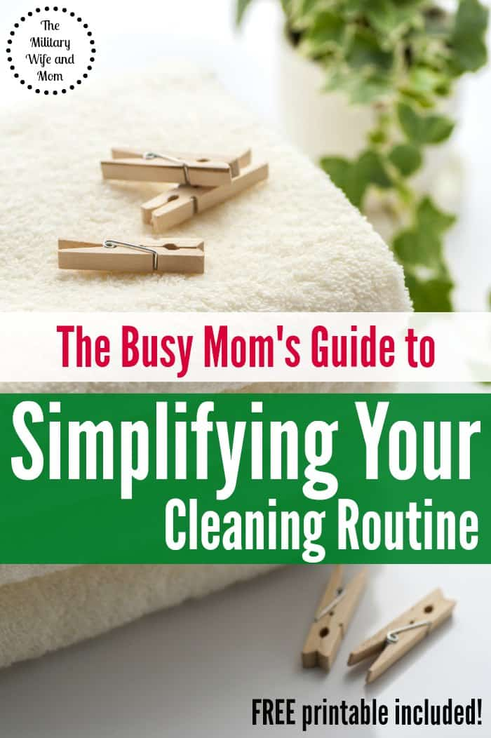 Looking for a cleaning routine for busy moms that will save both time and money? Super easy changes that will make a BIG difference!