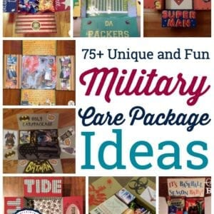 military care packages - collage