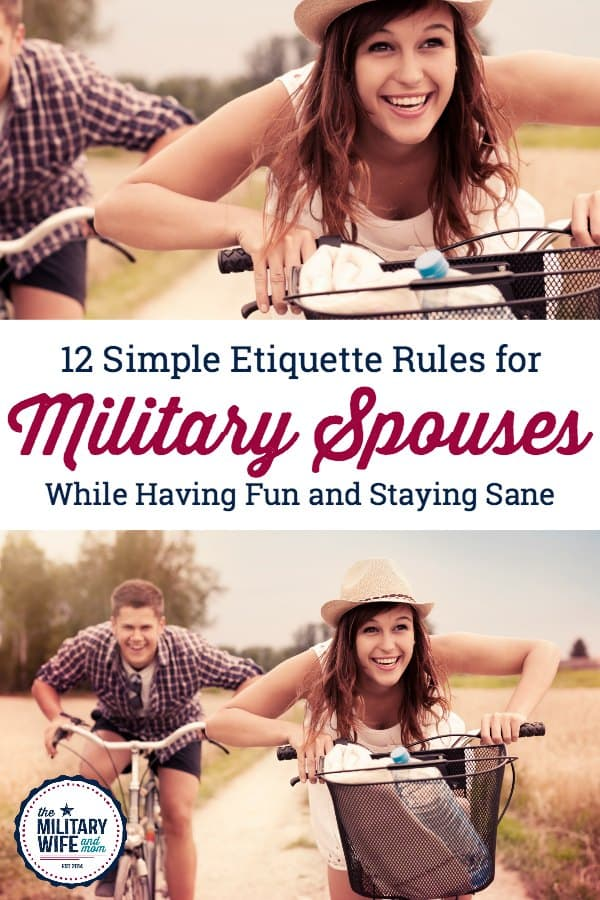 12 simple Etiquette rules for military spouses that will make life so much easier. #Etiquetteformilitaryspouses #milspouseEtiquette #Etiquette101formilitaryspouses
