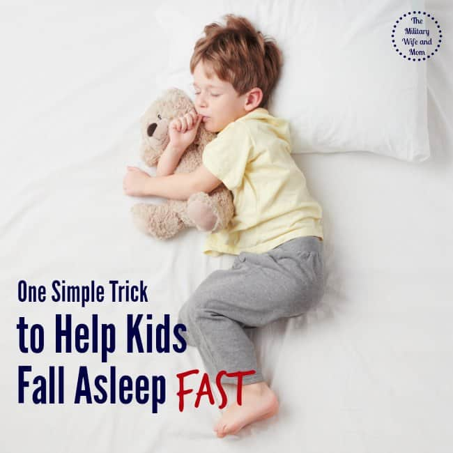 Love this tip to help kids fall asleep fast! Worked for us!