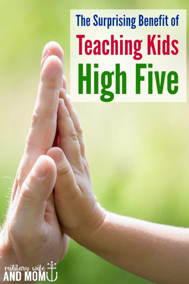 Wow this really surprised me! Great tip why kids should know high five!