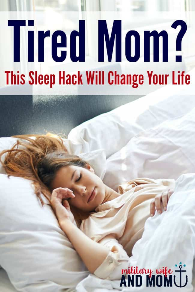 If you are a tired mom, use this tip to fall asleep faster and sleep deeper!
