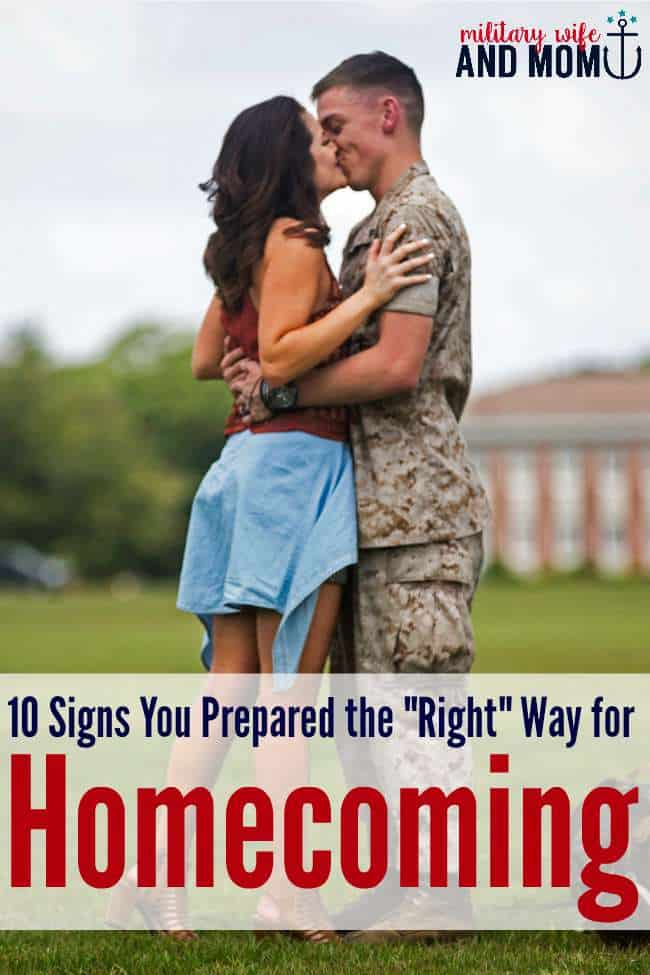 Love this awesome advice for military homecomings! Too funny!