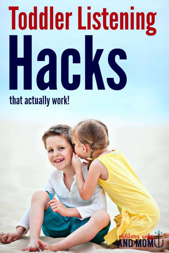 Struggling with toddler listening? These hacks are awesome!