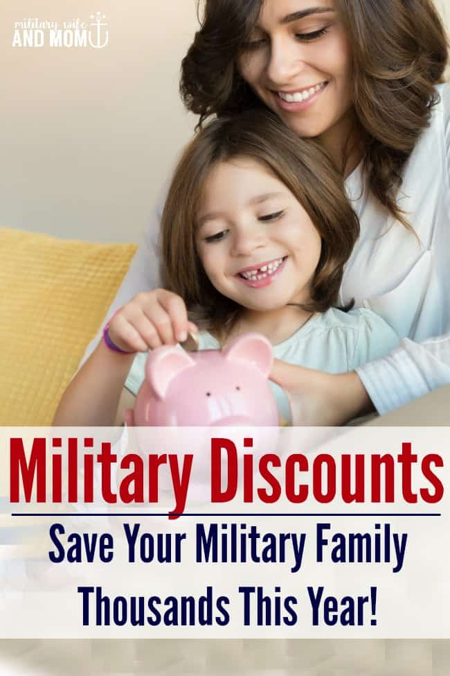 Forget the fifty cent military discount at the ice cream shop. Today we are talking REAL military discounts that can save your military family thousands this year!