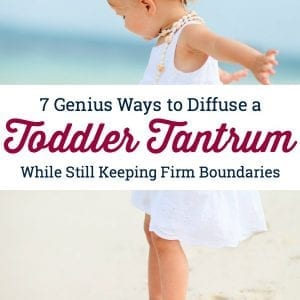 Seven great strategies for how to handle toddler tantrums using positive parenting. #howtohandletoddlertantrums #tempertantrums #howtodealwithtantrums #stoptempertantrums #tantrumsinstrongwilledkids