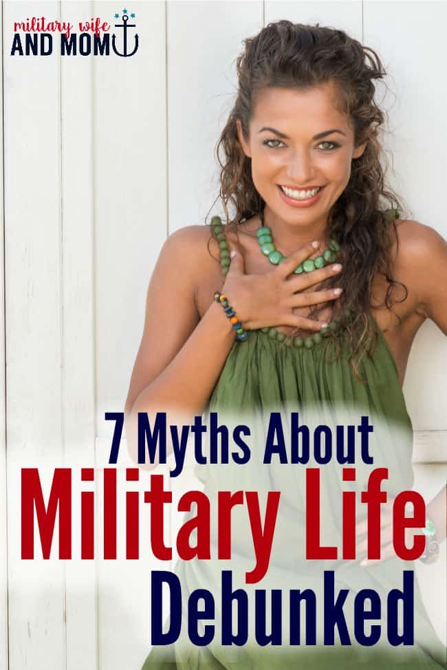 So true. Did you ever hear these myths about military life?