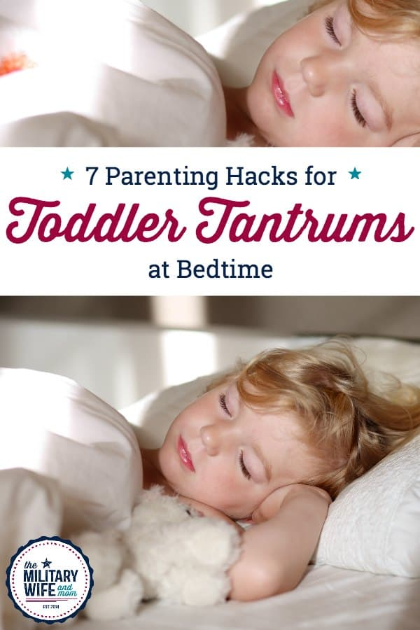 Learn seven different strategies to handle toddler tantrums at bedtime using positive parenting. #parentingtoddlers #momoftoddler #toddlerbedtime #toddlerwontsleep #toddlerkeepsgettingoutofbed