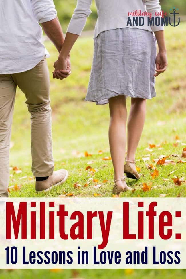 Military life lessons only a military spouse will understand. Great post for military spouses, military significant others.