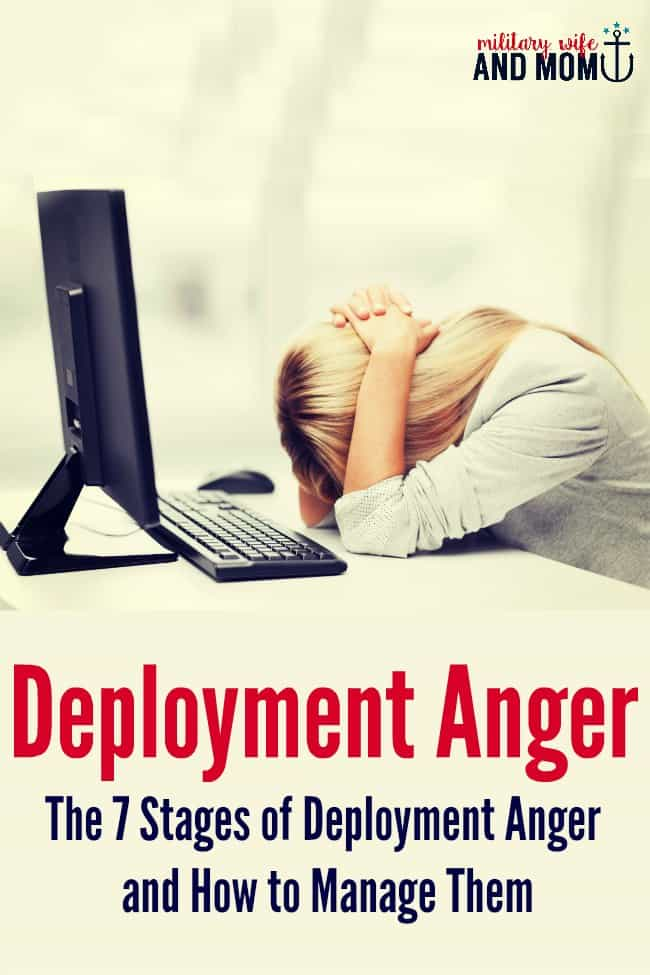 Do you ever struggle with deployment anger as a military spouse? Great tips for managing emotions during a military deployment. Military girlfriend. Military significant other. Military spouse. Military family.