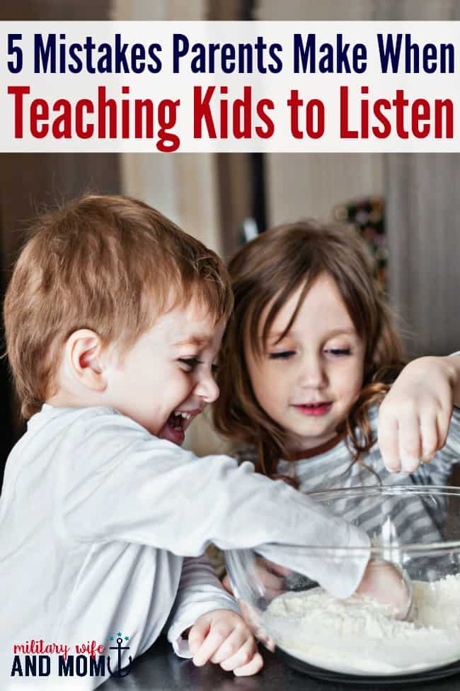 Guilty! Teaching kids to listen is hard. Love this tips! Great reminders to teach kids to listen.