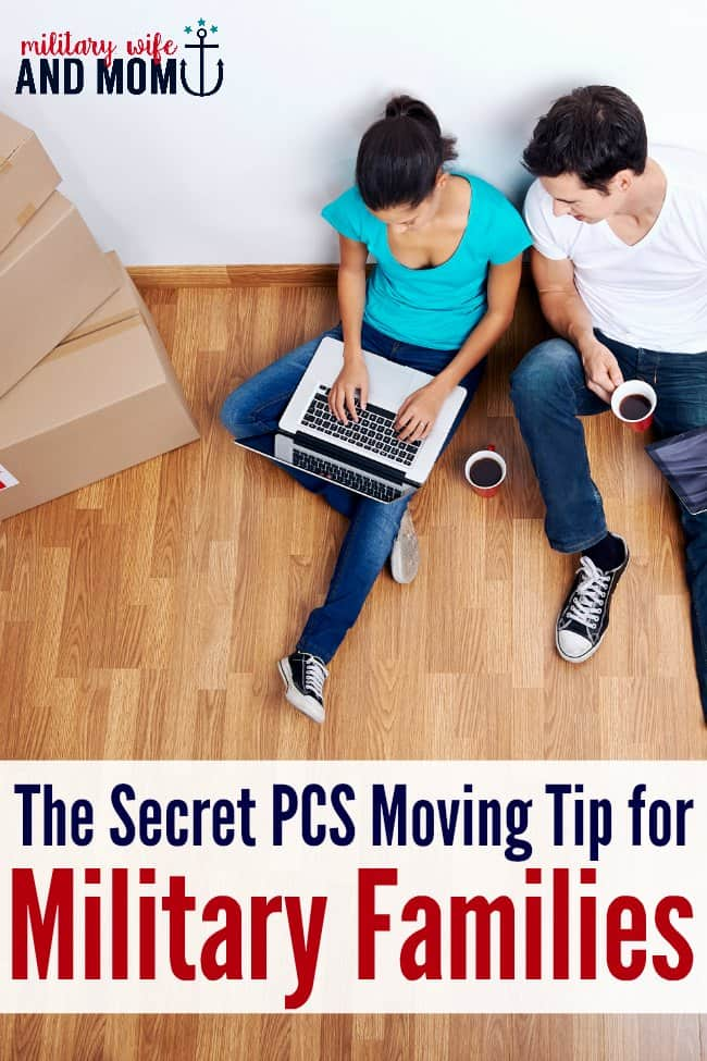 Ready for my best military PCS moving tip? This can save so much time, money and stress for military families! #CORTforMilitary #CORT #militarylife