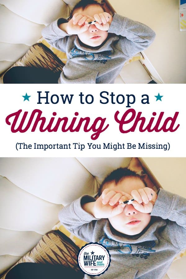 Tired of the whining? This is such a great post for how to stop a whining child!