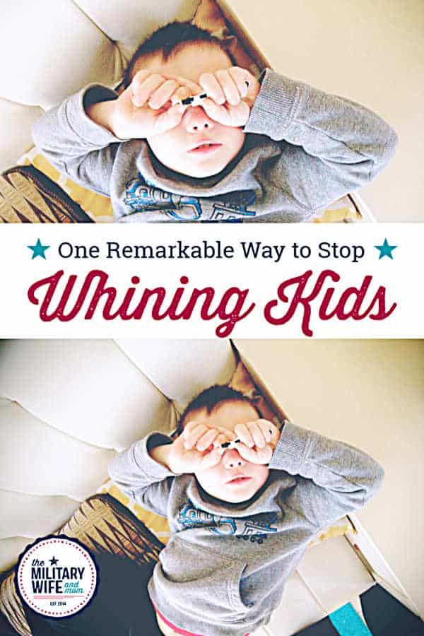 whining child how to stop whining