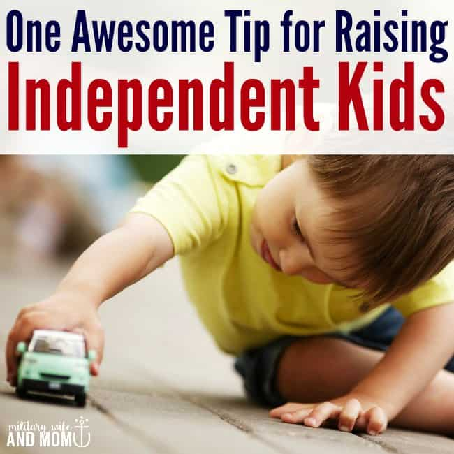 This is a great tip to raise independent kids. I never would of thought of this! Easy parenting tip for moms.