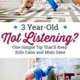 3 year old not listening