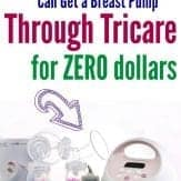 How to get a breast pump through Tricare insurance at no cost to you! Military spouse | Military wife | Military Family | Military Mom