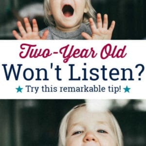 two year old won't listen