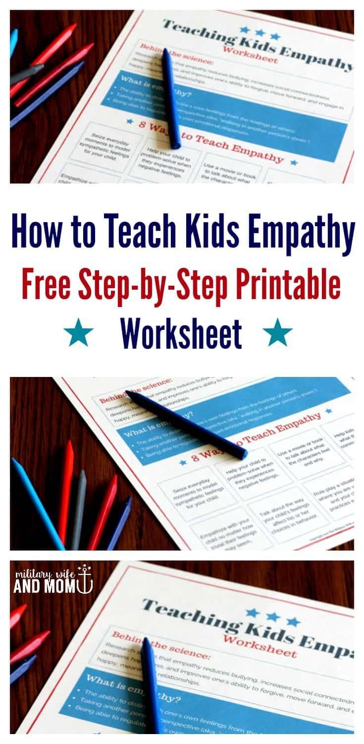 Teaching kids emotional intelligence is so easy using this printable worksheet. Teach your kids empathy to see better listening and behavior. ***LOVE this post. I learned so much!