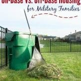 For military families the differences between on base housing and off base housing range significantly. Here are some ideas to help you decide if you should live off base or on base | military housing | military spouse
