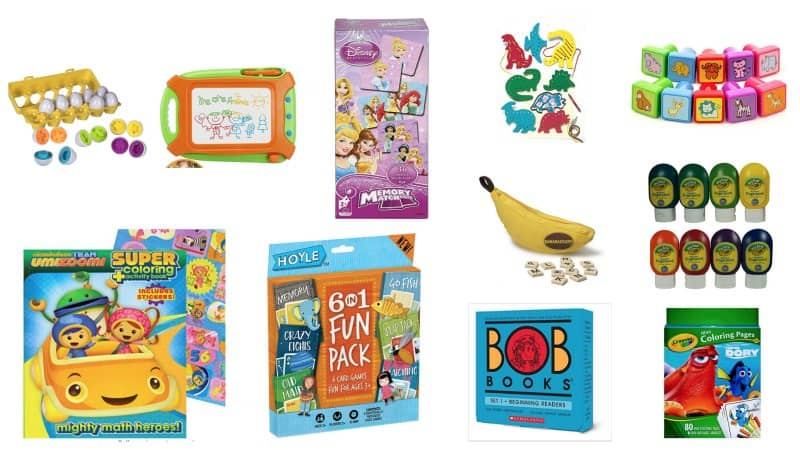 games, puzzles and art stocking stuffers for toddlers