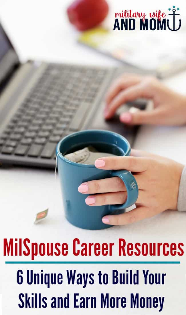 Military spouse career resources to help you build skills and find your true passion without getting a formal education.