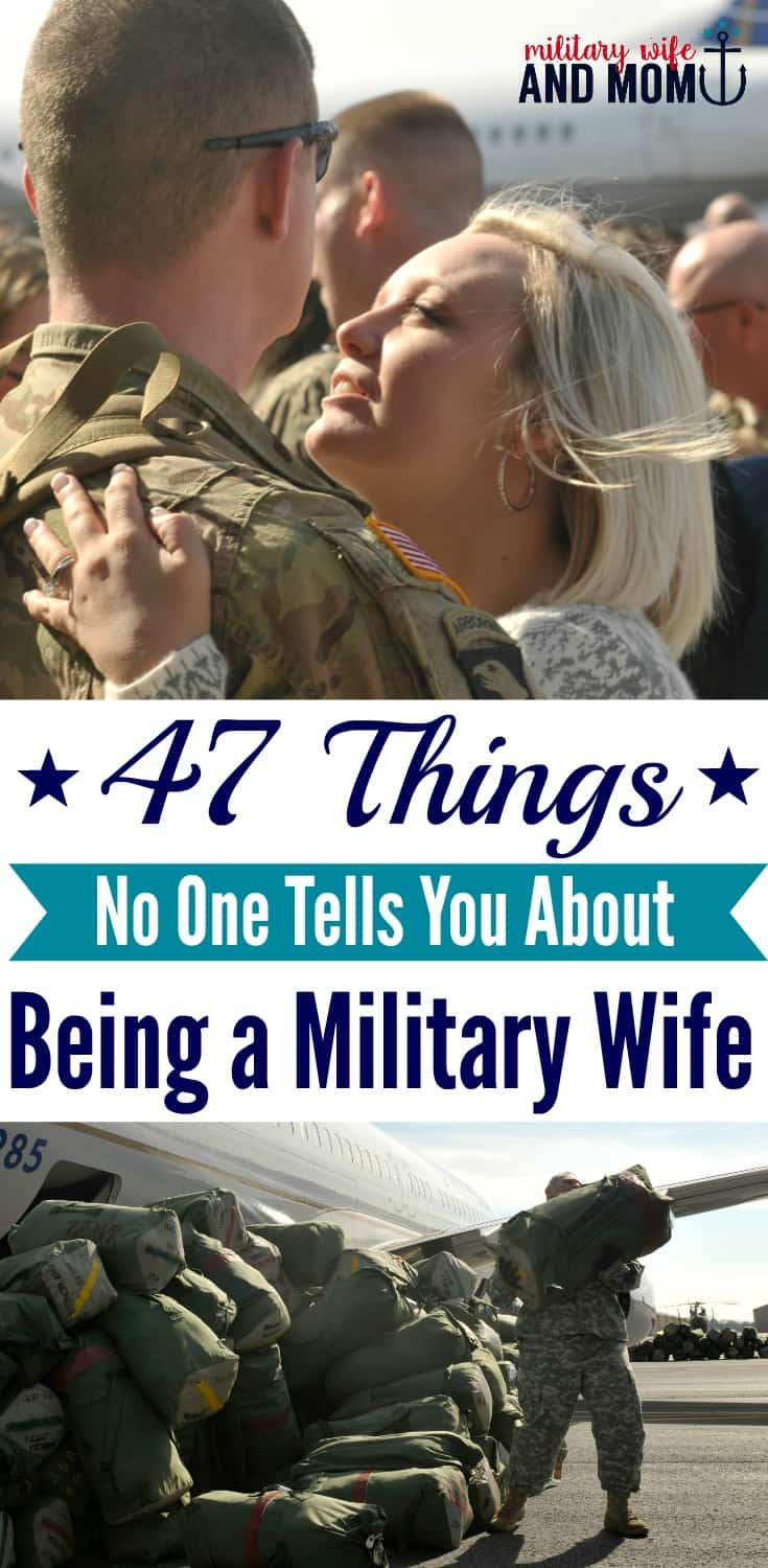 47 surprising things about being a military wife. Great read for military spouses and military significant others. I learned so much from life with our military family over the past eight years.