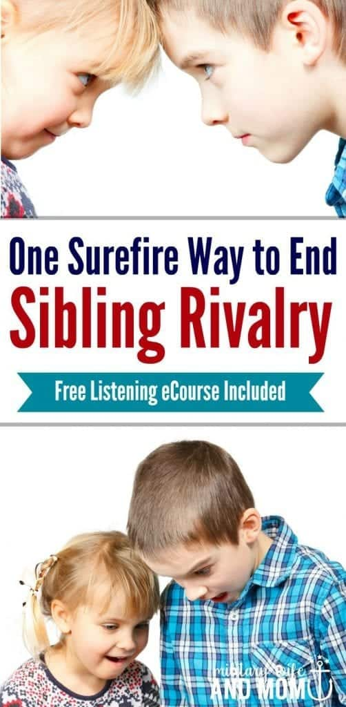Helping siblings get along is easy with this one simple tip. It will stop sibling fighting and improve the relationship between parents and kids too.