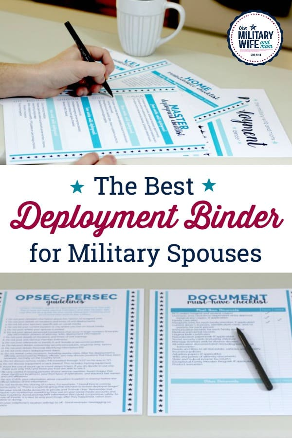 Staying organized during deployment is so important. Grab this 19 page deployment binder for military spouses and significant others to stay sane.