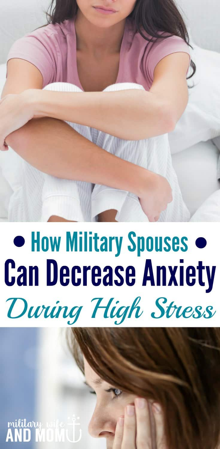 Do you ever feel like an anxious military spouse? Me too! Here are the tips that can help decrease anxiety during military life.