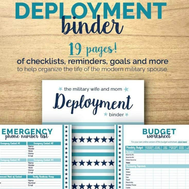 Free printable deployment binder for military spouses!