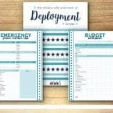 Free printable deployment binder for military spouses